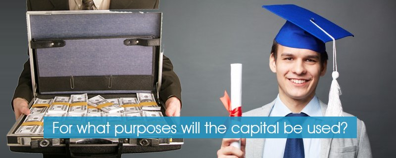 For what purposes will the capital be used