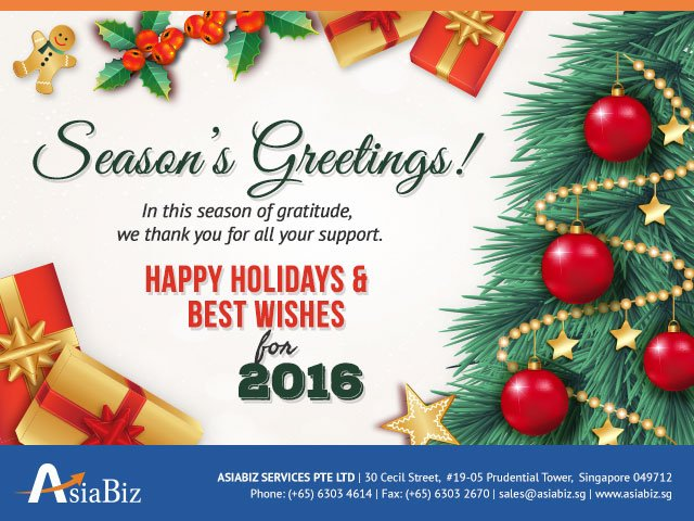 Season's Greetings from AsiaBiz!