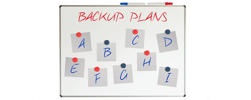 create a backup plan for success
