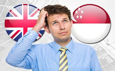 running a business and deciding between entering Singapore or the United Kingdom