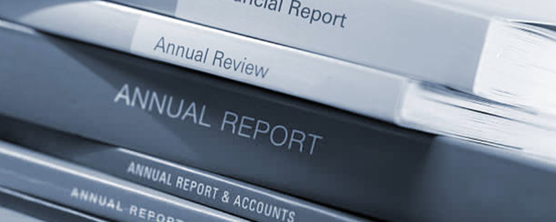 set up your annual report