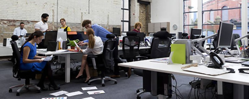 share your office space with other startups